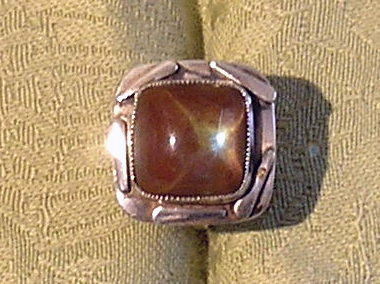 Large Saphirite and silver ring