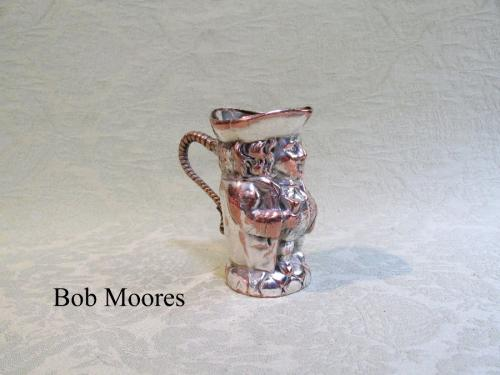 19th century silver gilt miniature Toby jug