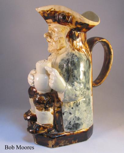 Striking creamware Toby jug Staffordshire a 1780