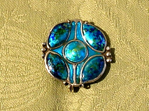 Arts and Crafts enamelled brooch