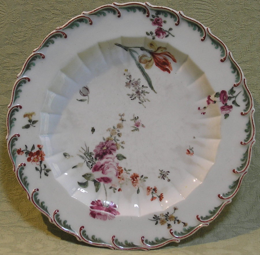 Chelsea plate red anchor c.1755