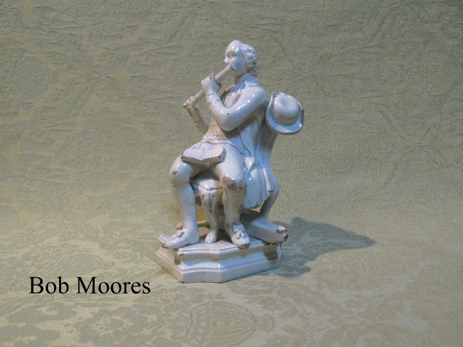 Pearlware figure of a musician c.1800