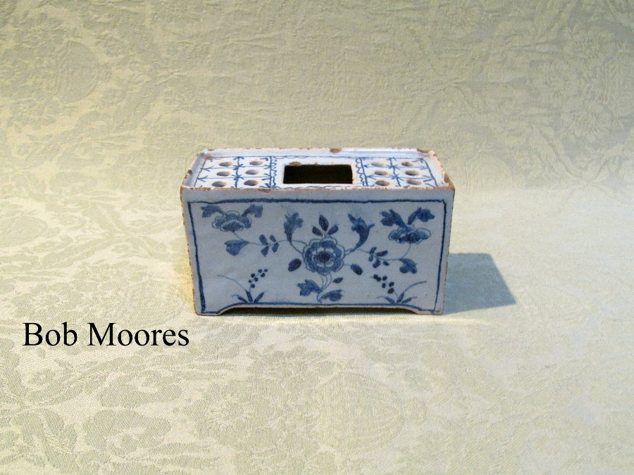 Rare small sized delft flower brick c.1760
