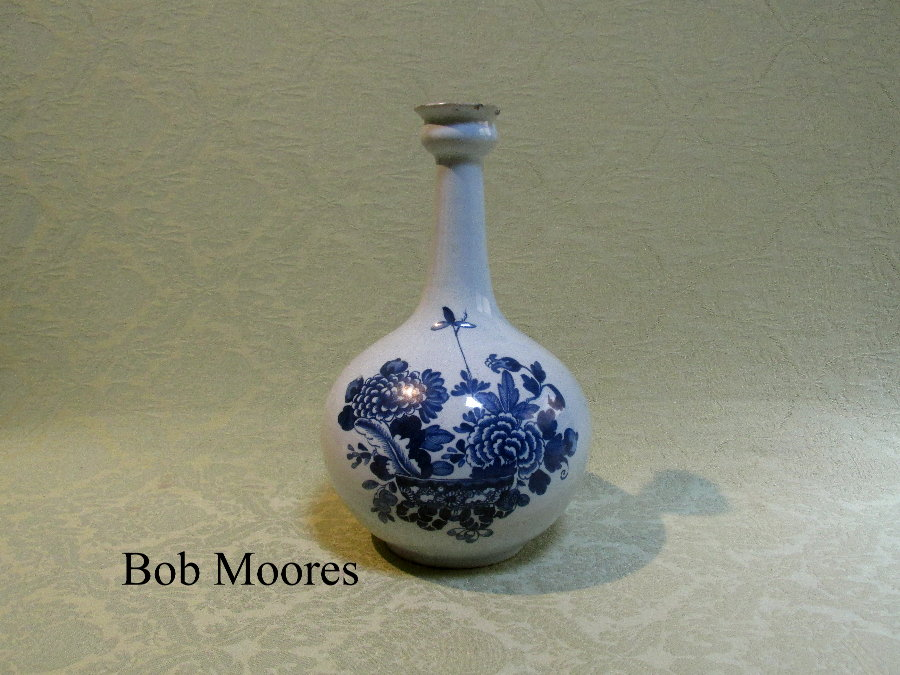Good delft guglet World End pottery Dublin c.1760