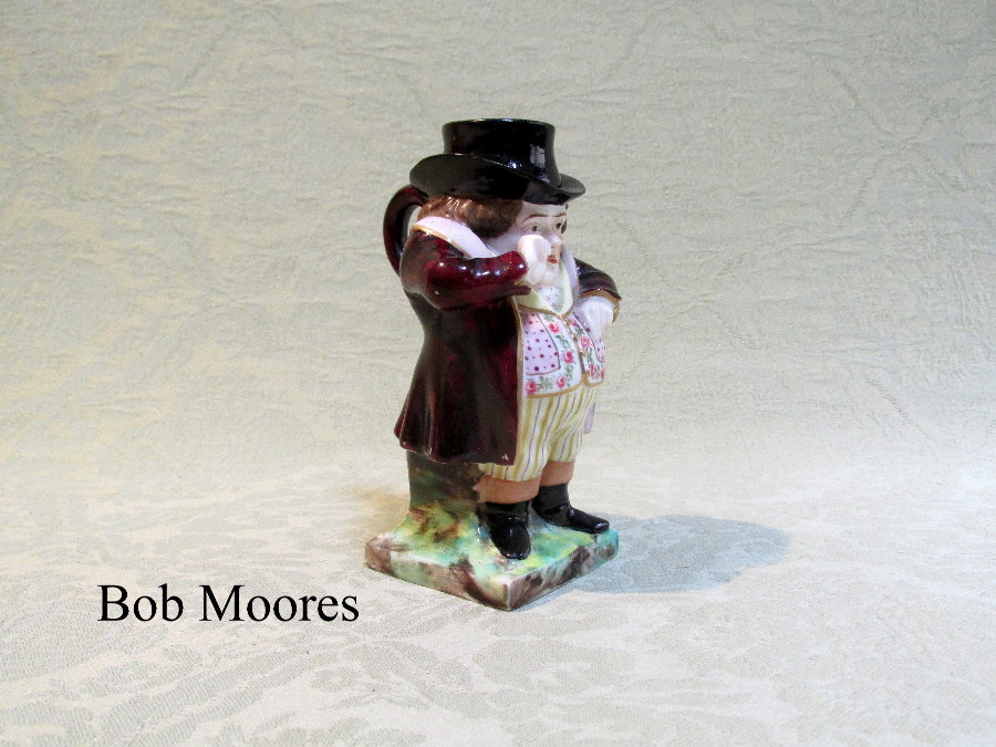 "Fine Derby porcelain Toby jug with cap c.1815    4 1/4"" tall"