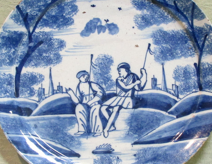 Early 18th century delft plate