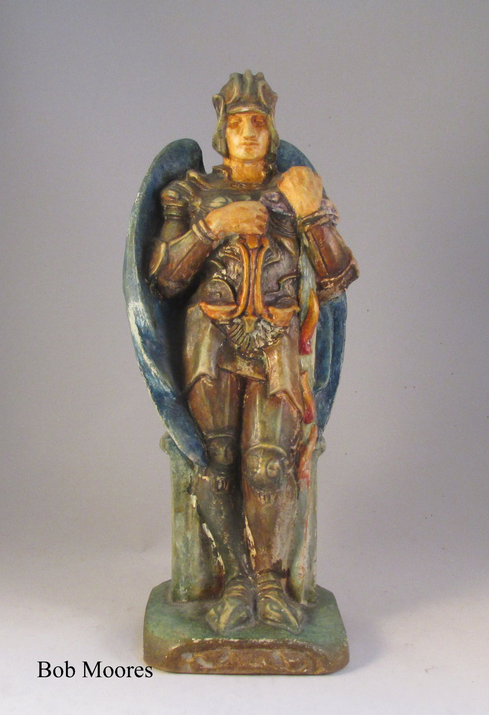 Compton pottery arts and crafts figure of St Michael  c1915