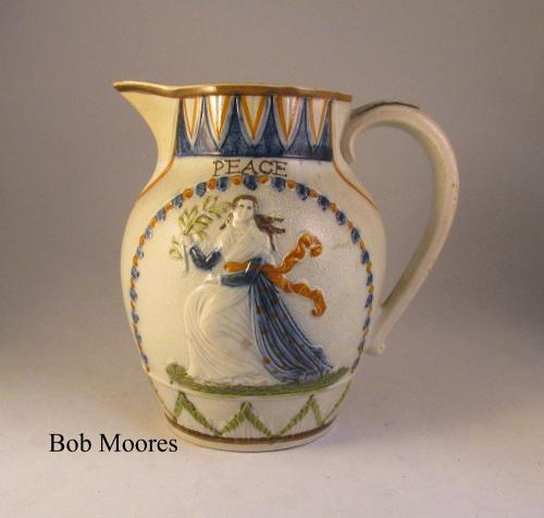 Prattware Peace and Plenty jug c1780