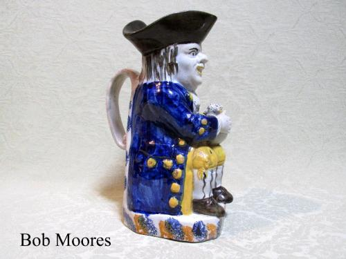 Staffordshire pearlware Toby jug c.1800
