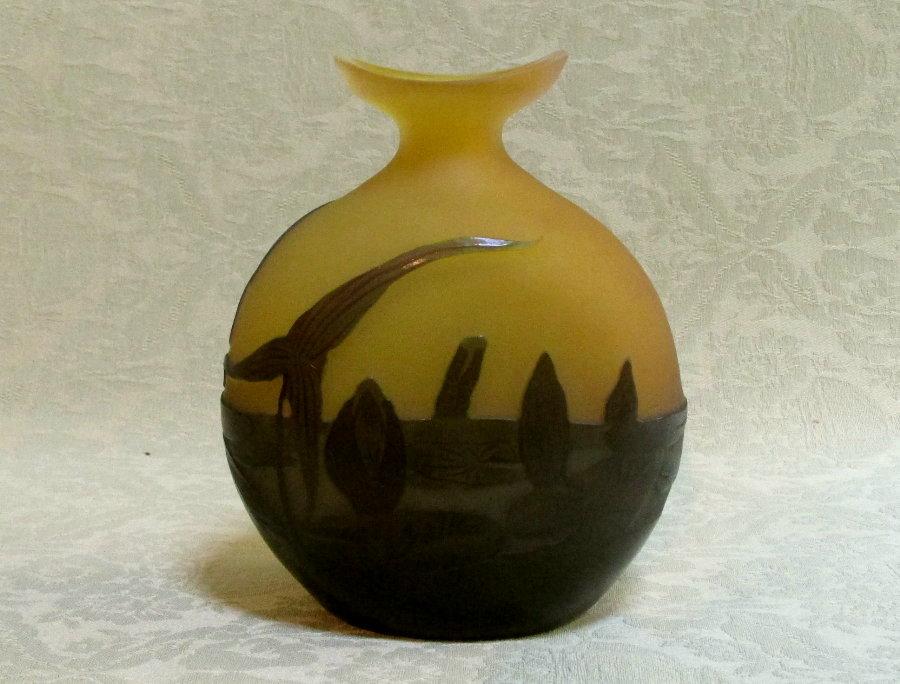 Fine Emile Galle Cameo Glass Lily Vase Nancy C1905 Archive