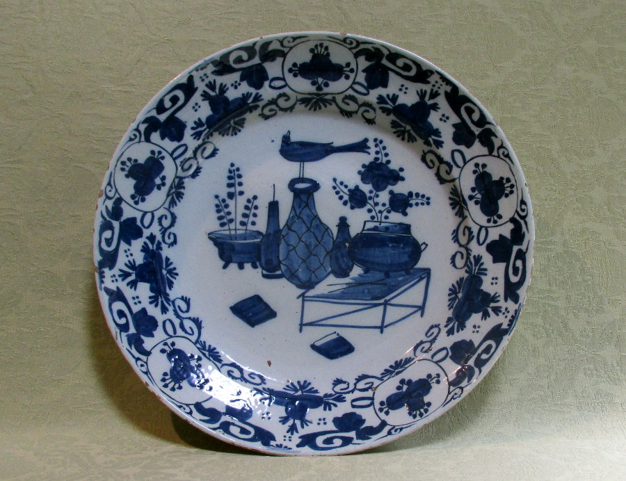 Large delft charger c.1760