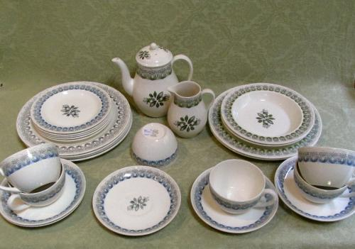 Original 1930's Wedgwood pottery in the Persephone design by Eric Ravilious
