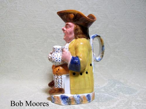 Good Staffordshire pearlware Toby jug c.1790