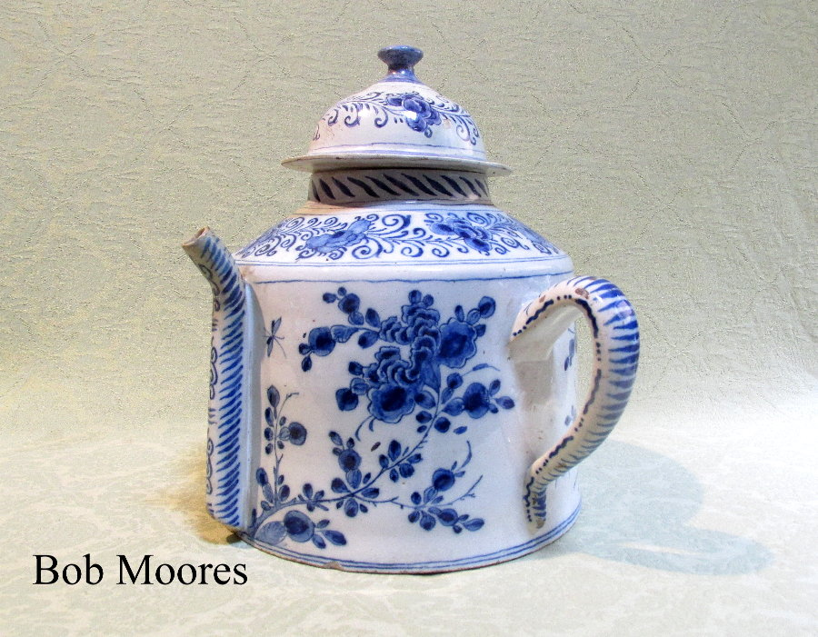 Monumental delft posset pot and lid c. 1760