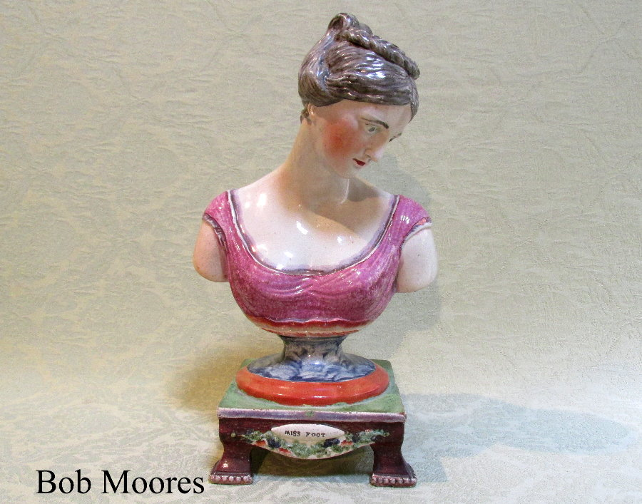 Rare early 19th century bust of the renowned actress Maria Foot