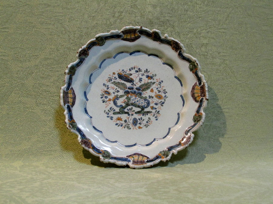 Fine shaped faience plate by Pasquale Antonibon c.1760