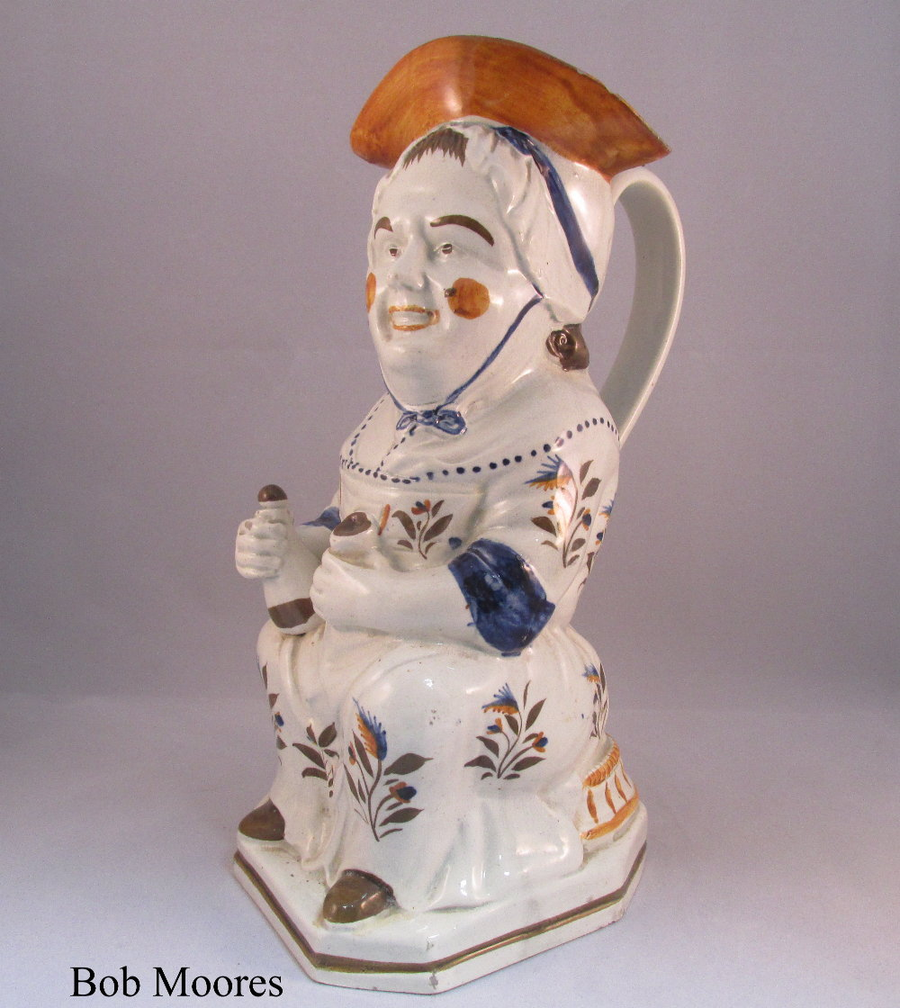 Very good pearlware Martha Gunn Toby jug Staffordshire c.1780
