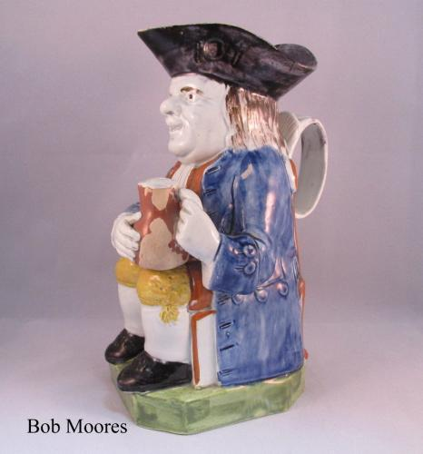Good pearlware Toby jug Staffordshire c1780