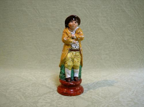 Pearlware figure of Winter c.1810