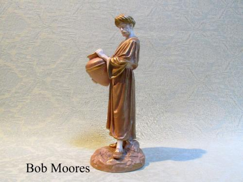 Royal Worcester figure of a water carrier c.1890