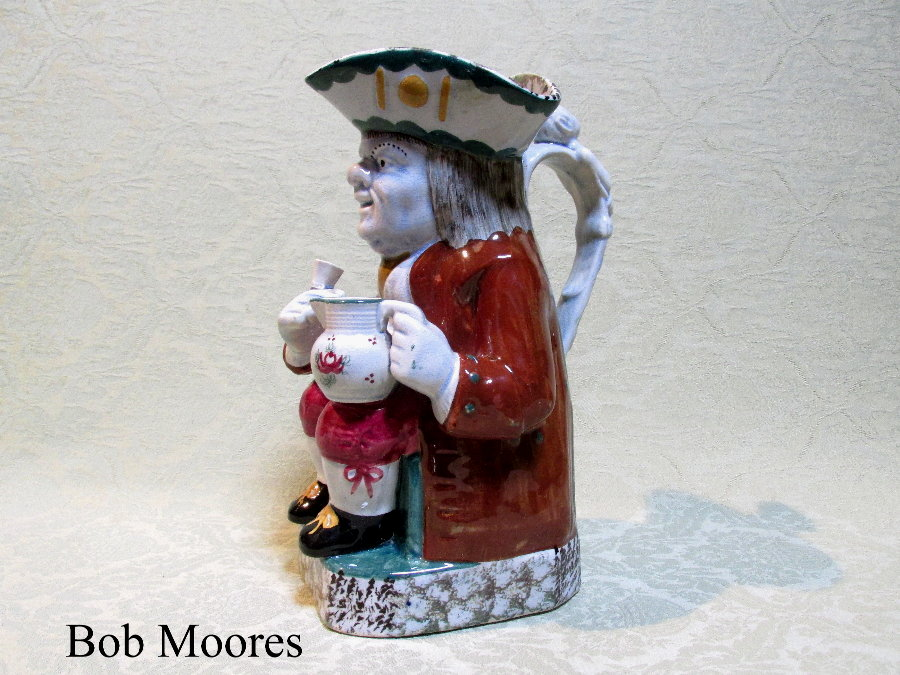 Yorkshire pearlware Toby jug c.1830