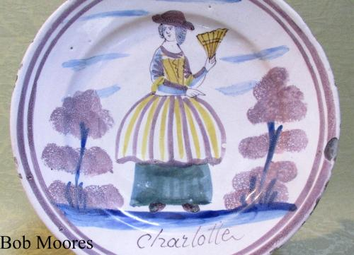 Commemorative delft charger for Charlotte c.1690