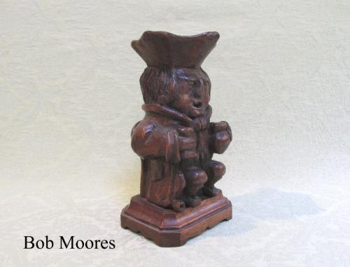 Light up your collection! 19th century carved Toby lamp base
