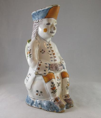 Good 18th century French faience Toby jug