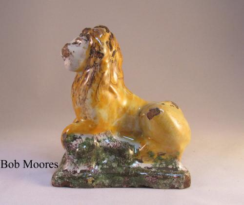 18th century Brussels faience model of a Lion