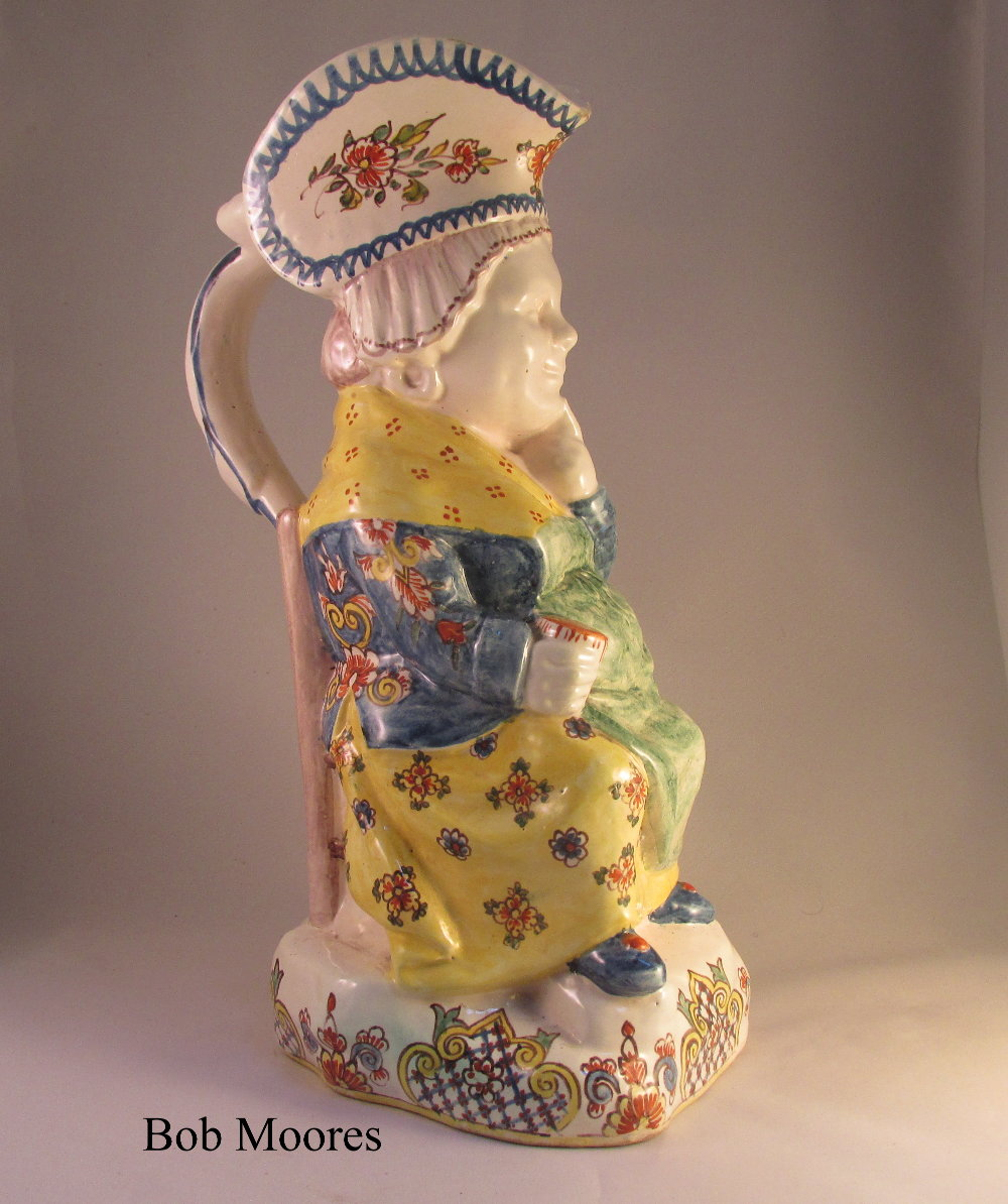 Attractive Continental faience Toby jug