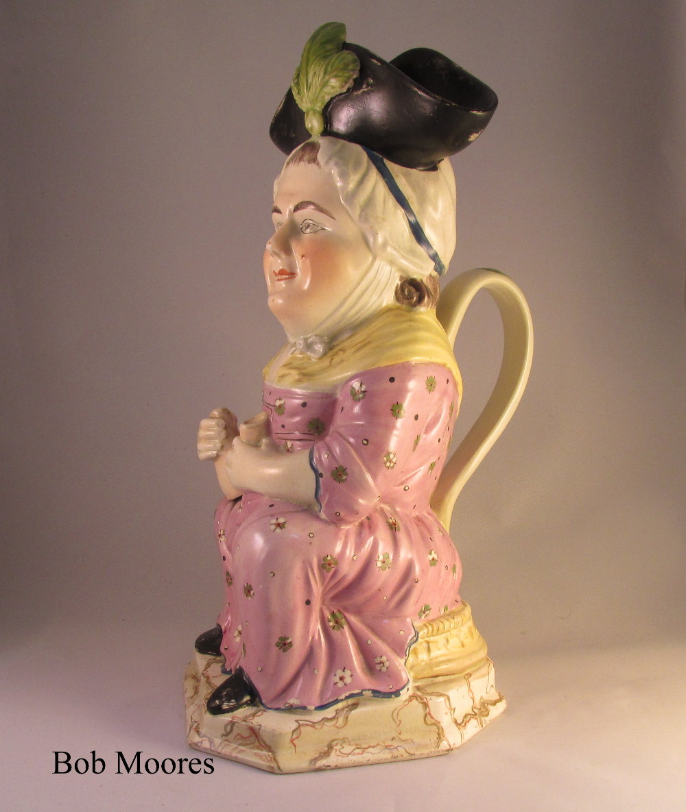 Good Martha Gunn Toby jug Staffordshire c1800