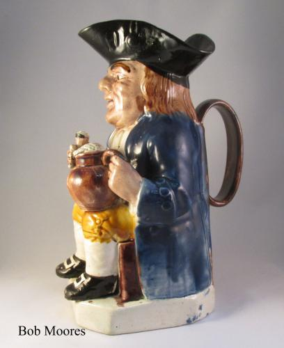 Ralph Wood hooked nose toby jug Staffordshire c.1780