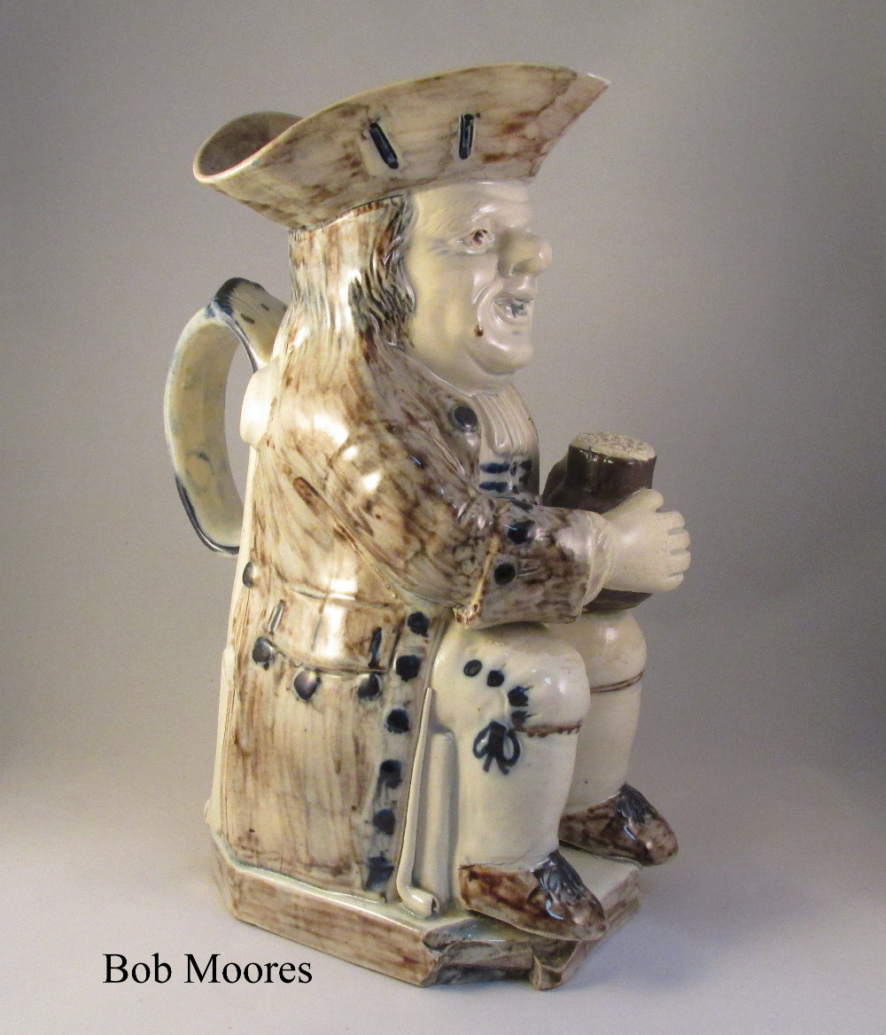 Excellent creamware Toby jug Staffordshire c1780