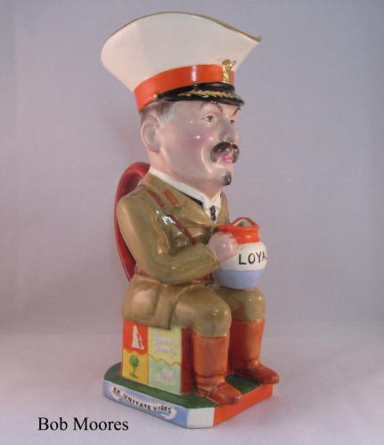 Fine Wilkinson Carruthers General Louis Botha Toby jug c.1917
