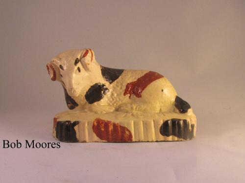 Creamware figure of a sheep or ram probably Bovey Tracey Devon c1800