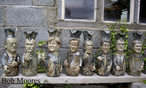Unique set of saltglazed Toby jugs depicting the 2013 G8 leaders