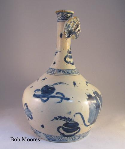 Delft guglet with shell  c.1760