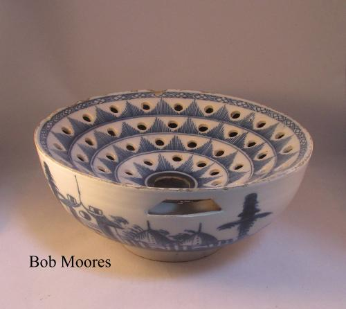 "c1760 delft colander or strainer - 9"" wide"
