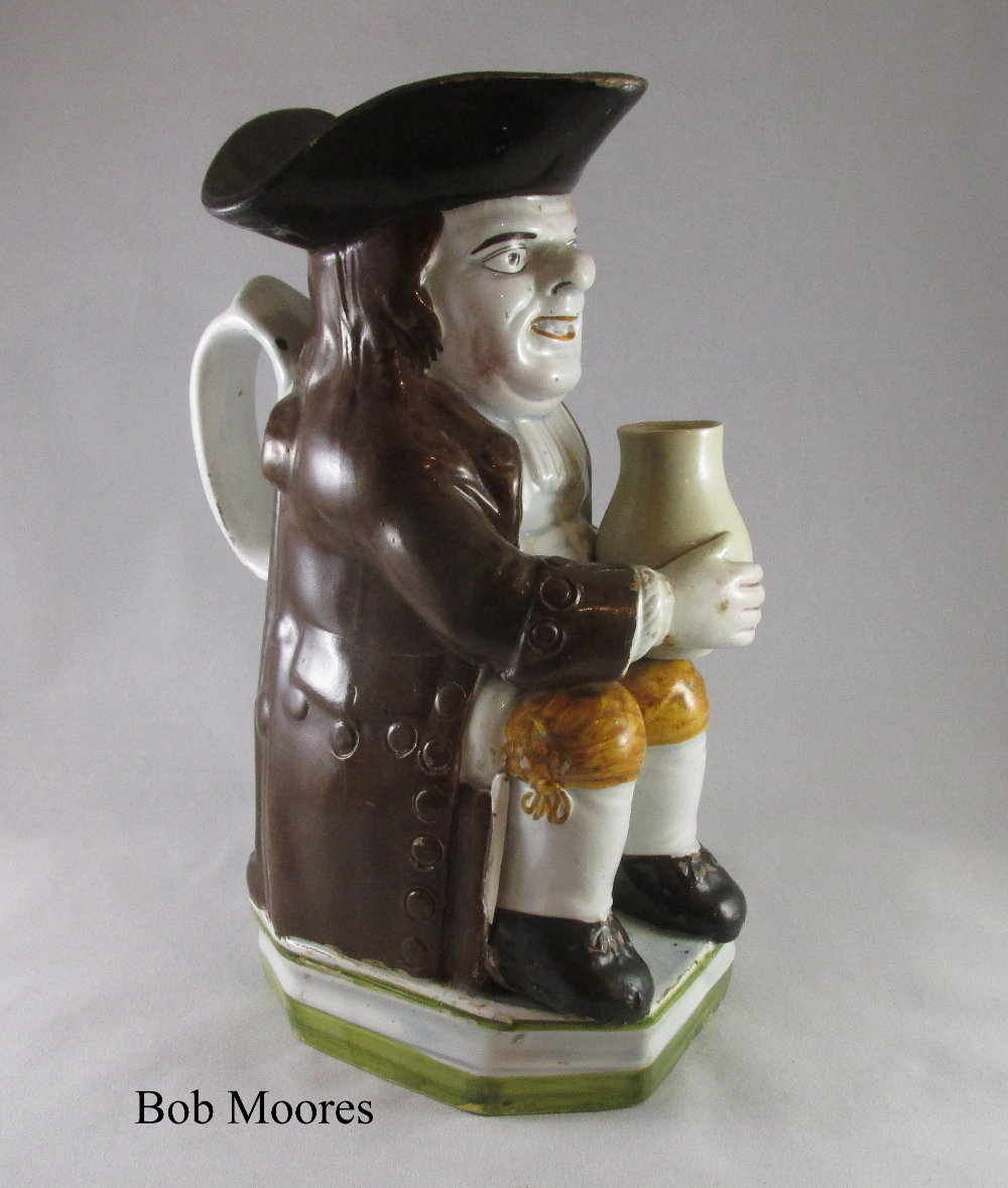 Double base Toby jug Staffordshire c1790