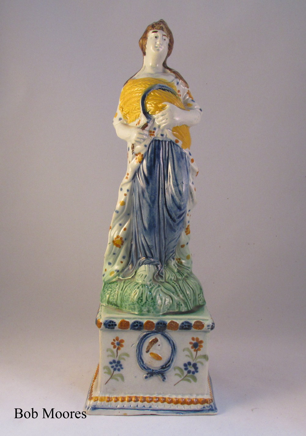 Prattware figure of Autumn c1780