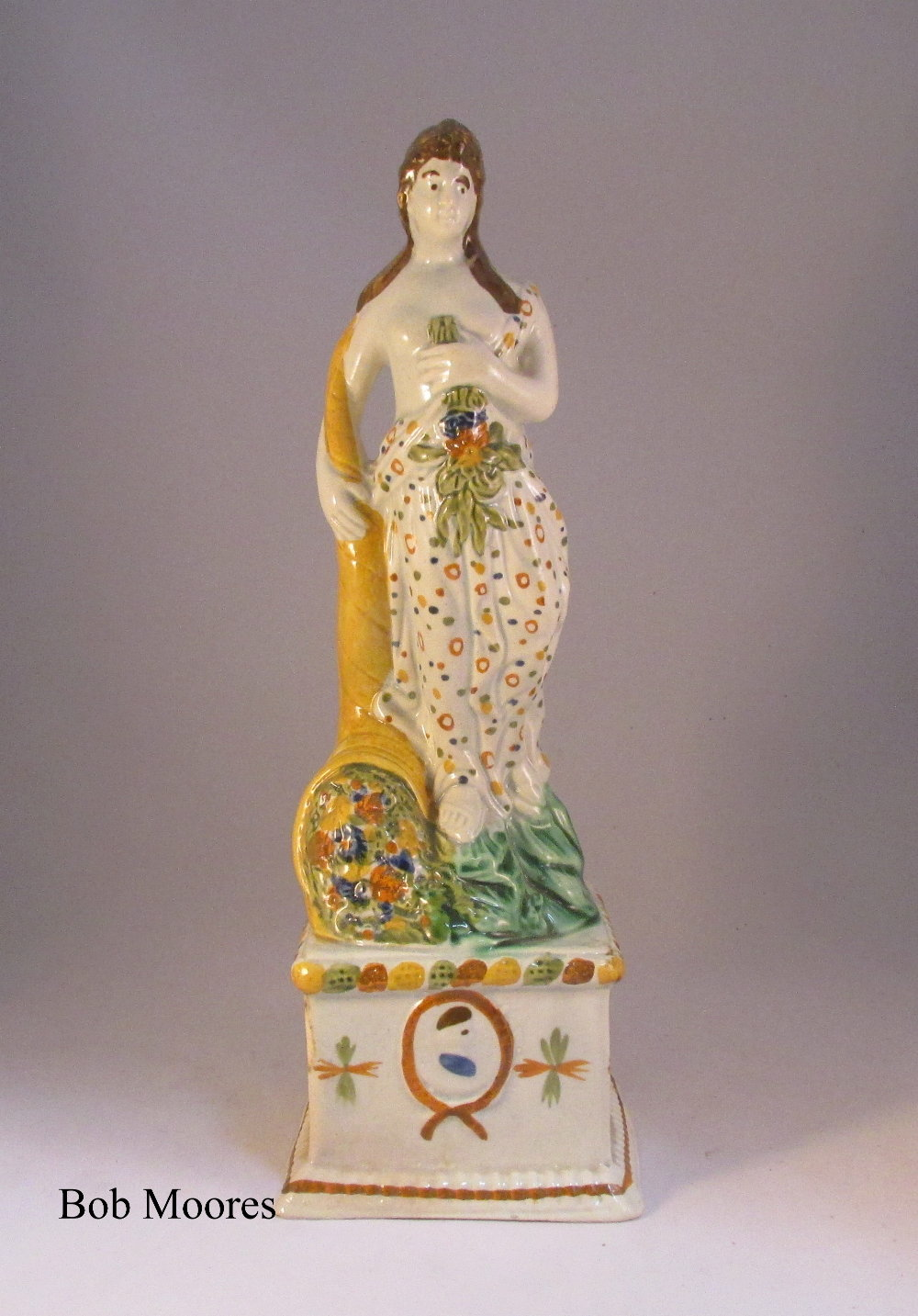Prattware figure of Summer c1780