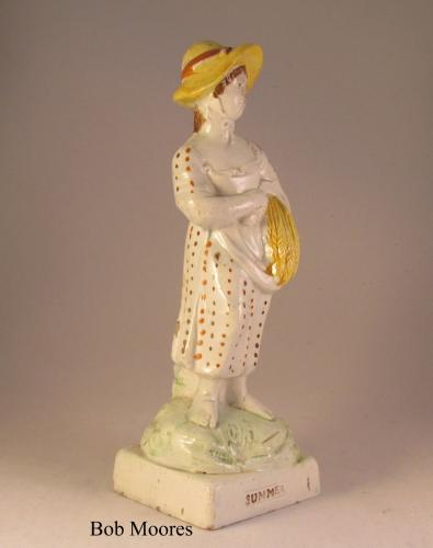 Staffordshire figure of Summer c1800