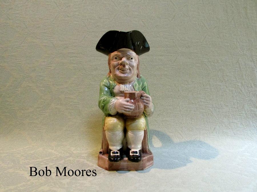 Fine Ralph Wood Long Face Toby Jug Staffordshire C 1780