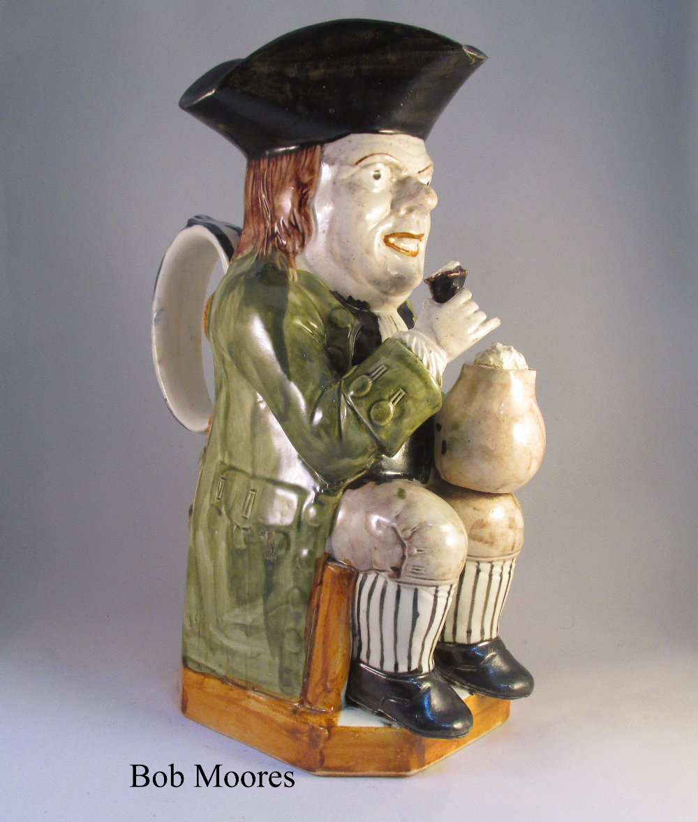 Excellent Long Face Toby jug c.1780 - ex Marquess of Bute collection - catalogue included