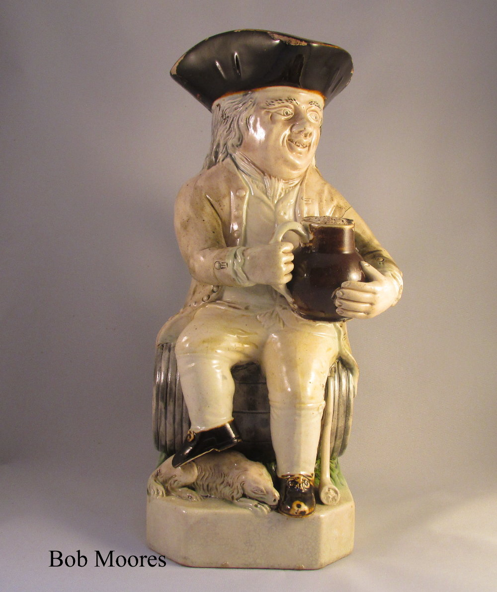 Rare and fine Ralph Wood Lord Howe Toby jug c1780
