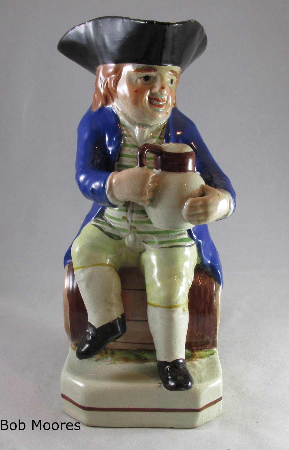 "Lord Howe Toby jug Staffordshire c.1800 ""Good Ale"""