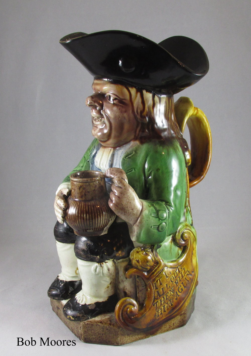 Fine Ralph Wood shield Toby jug c1780