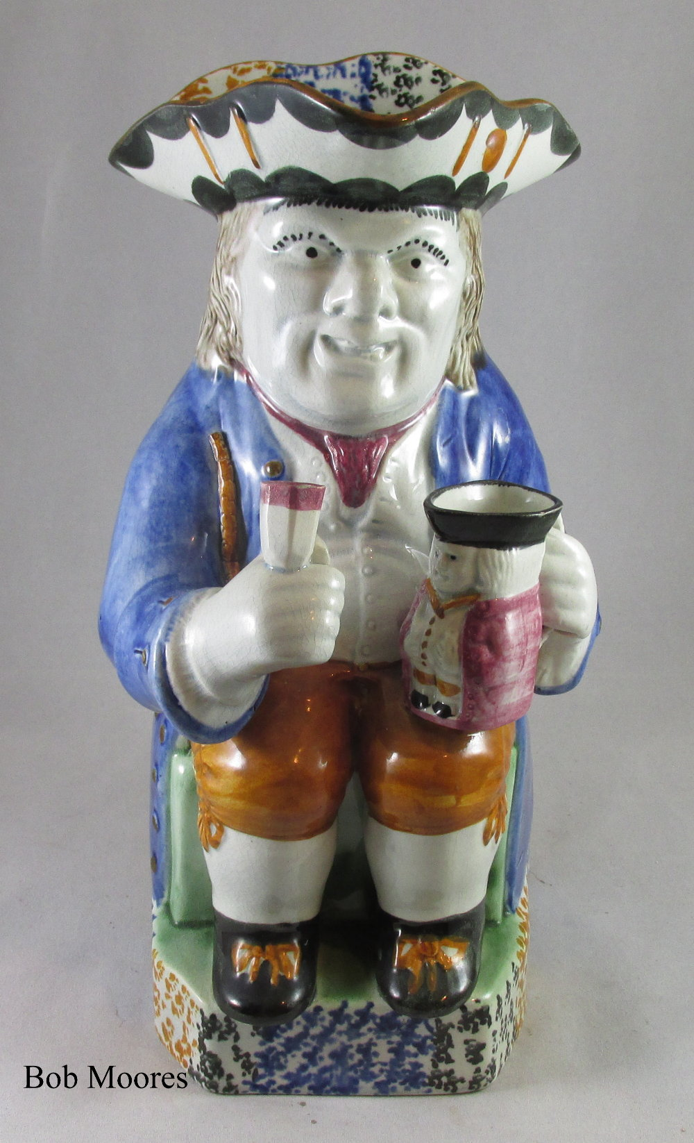 Fine Mexborough Yorkshire Toby jug c.1790