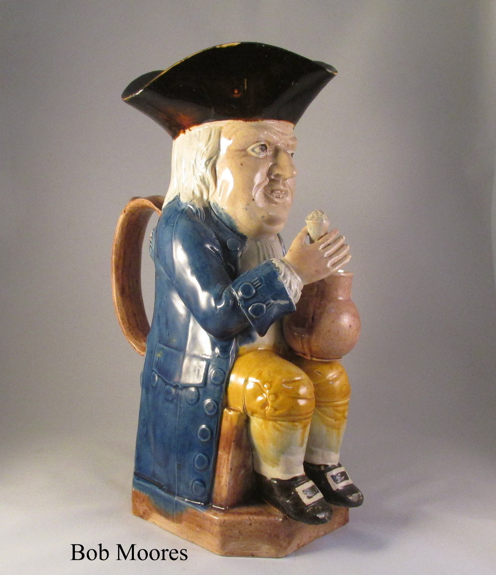 Fine Ralph Wood sharp face Toby jug c.1780 - ex Mackintosh collection