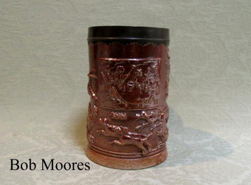 Large Mortlake saltglazed stoneware tankard   London c.1795